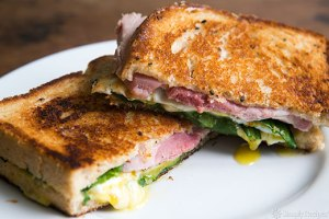 Greens, Eggs, and Ham, Grilled Cheese Sandwich